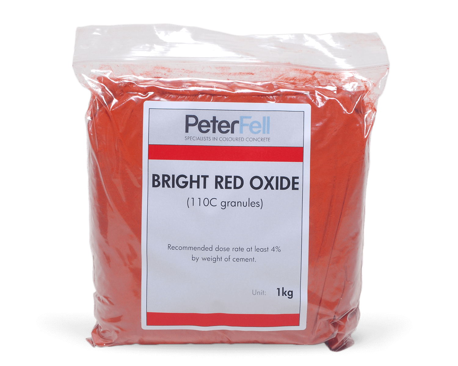 Bright Red Oxide for colouring concrete