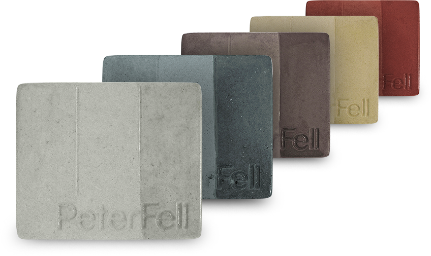 Coloured concrete colour samples