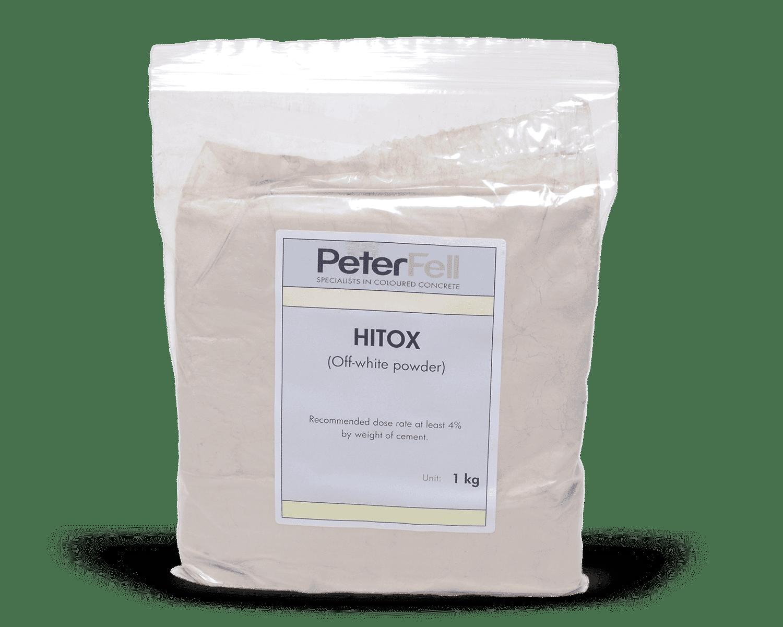 Hitox off white powder for colouring concrete