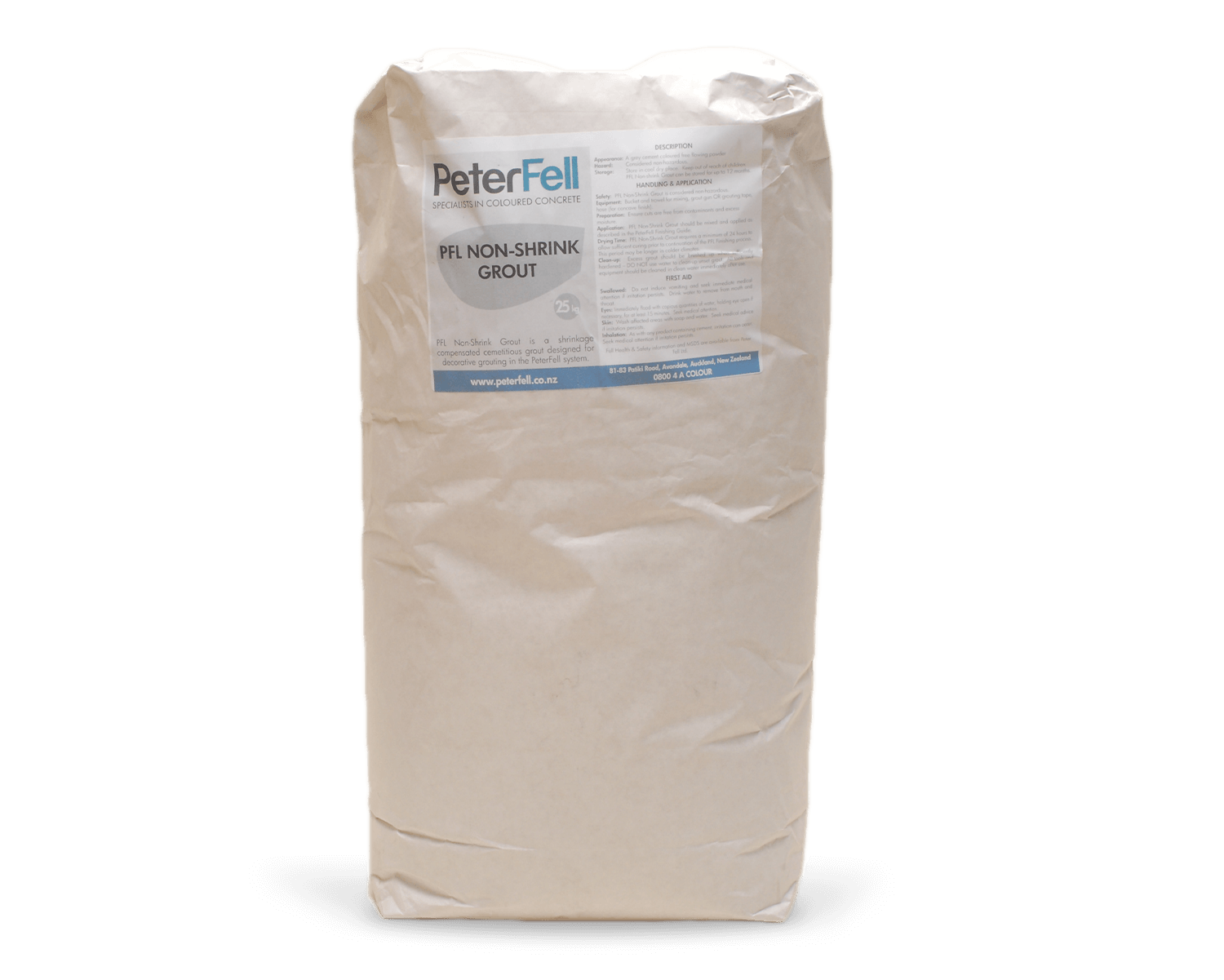 PeterFell Non Shrink grout for concrete.