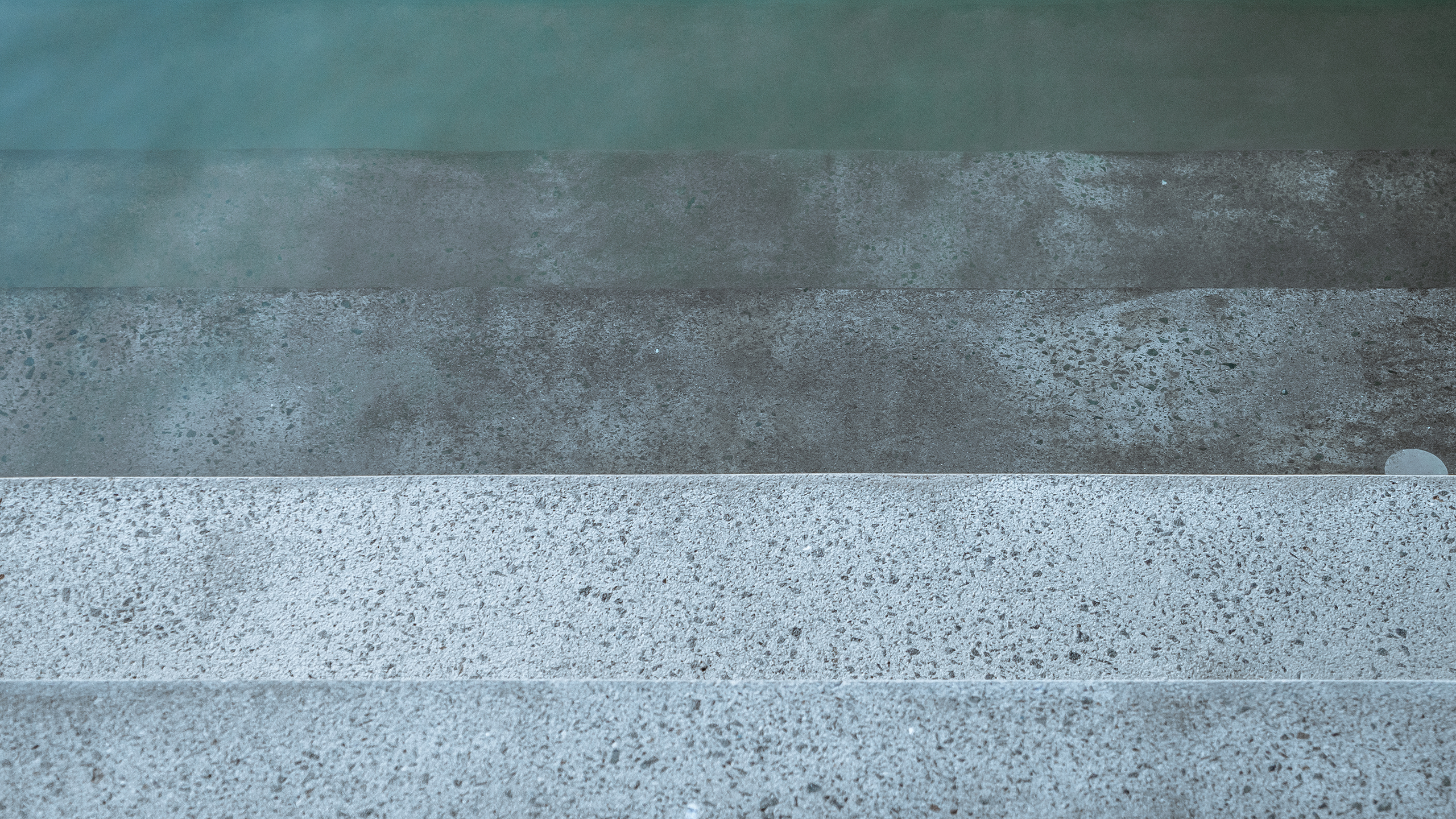 Textured concrete steps