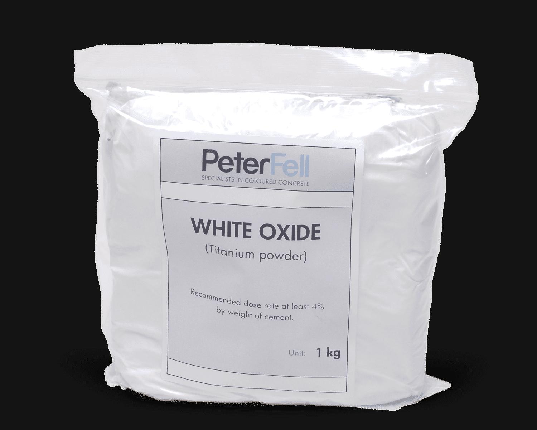 White Oxide titanium powder for colouring concrete